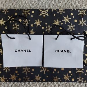 Chanel beauty cosmetic paper bag